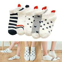 5Pairs Women Men Socks Casual Work Heart-shaped Cotton Socks Lovely Sock F1 T5B2