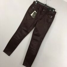 New A/X Armani Exchange 4 Jeans Pants J20 Super SKinny Mid Rise Burgundy Womens