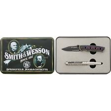 Smith & Wesson S&W Extreme Ops Knife & Tactical Pen In Metal Gift Tin PROM1513CP