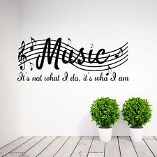 Removable Music Is Not Musical Notes Room Decor Art Vinyl Wall Decal Sticker hot