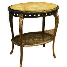 Table, End, French Louis XV Style Marble-Top Salon Charming Vintage / Antique!!
