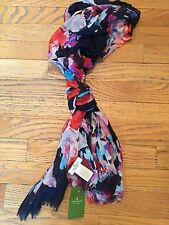 Kate Spade Hazy Floral Blurry Flowers Large Scarf Wrap NWT
