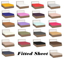 Extra Deep Pocket Fitted Sheet 1000TC Egyptian Cotton Cal-King Size & All Colors
