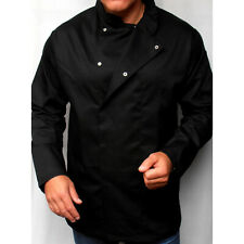 More details for chefs coats unisex black chef jackets with long sleeves – 2xl / xxl