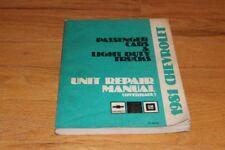 1981 Chevrolet Passenger Cars & Light Duty Trucks Unit Repair Manual (Overhaul).