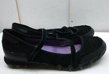 Skechers Memory Foam Black Leather Mary Jane Athletic Sneaker Women Shoes 10M 40