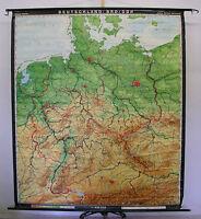 Schulwandkarte Wandkarte Karte Deutschland BRD DDR Germany map card 188x217 1975