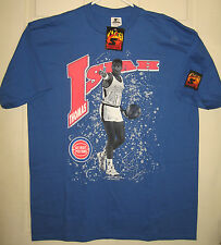 ISIAH THOMAS Shirt L NEW 1990 Detroit Pistons Hot Starter NBA VTG OOP RARE HTF