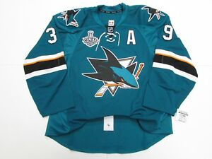 COUTURE SAN JOSE SHARKS HOME 2016 STANLEY CUP TEAM ISSUED REEBOK EDGE 2.0 JERSEY