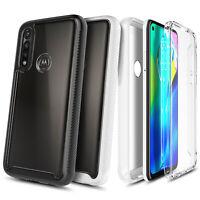 For Motorola Moto G Power 2020 Case, Full Body Clear + Built-In Screen Protector