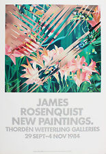 James Rosenquist. New Paintings. Ausstellungsplakat Wetterling Galleries 1984.