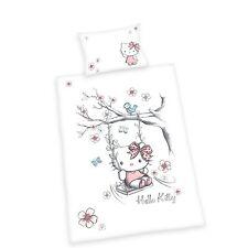 Herding Baby Bettwäsche  Hello Kitty weiß/rosa Flanell  40 x 60 cm  100x135 cm