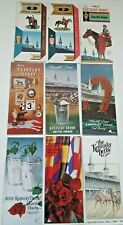 Kentucky Derby Horse Racing Programs 90th, 92nd, 93rd, 94, 95, 96, 105, 107, 108