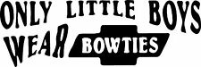 Little boy bowties chevy decal funny ford dodge jeep 9x3 white