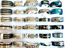 wholesale Lots mixed 100pcs assorted vogue lady's fine stainless steel rings