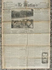 LE MATIN (28/7/1919) Tour de France - Héros de Rouge-Mare - Parti Radical