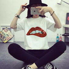 Fashion Red Lips Fabric Patches Stickers Clothes Decoration Diy Accessories