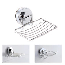 Non Rust Strong Suction Stainless Steel Bathroom Shower Soap Holder Dish Rack UK