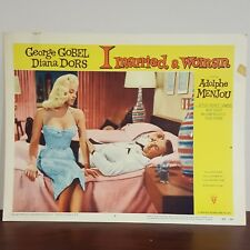 1958 I Married a Woman Movie Lobby Card Bed Scene