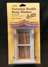 Dollhouse Miniature Victorian Deluxe Standard Double Hung Working Window 1:12