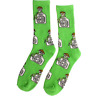 40s & Shorties Tequila Green Crew Socks, One Size