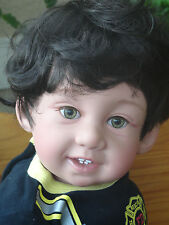 "Reborn Child Friendly 22"" Toddler Boy  Doll ""Giggles Mikey Fireman"""