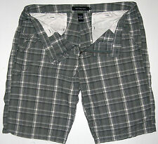 Mens 38 Calvin Klein Jeans Grey Plaid Cotton Shorts