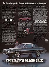 1981 PONTIAC GRAND PRIX 2-door Car Photo AD
