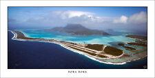 Poster Panorama Bora Bora Mount Otemanu Airport French Polynesia Art Print Photo