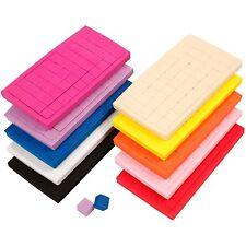 500 Self-Adhesive EVA Foam Square Mosaic 10 Colours Decoration Craft Sticky 3mm