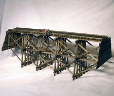 81 ft PILE TIMBER TRESTLE BRIDGE O Model Railroad Structure Wood HL102O
