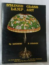 Stained Glass Lamp Art Book Luciano Colson Mosaic Craft Design Pattern Hidden PB