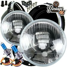 "MG MGB ZB Midget 7"" Sealed Beam Upgrade Xenon Halogen Conversion Headlight Kit"