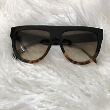 Celine Ladies Black-Havana Frame brown Lens 41026 Sunglasses new