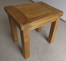 Rustic Solid Oak Lamp/Side Table 40cm High Small Compact