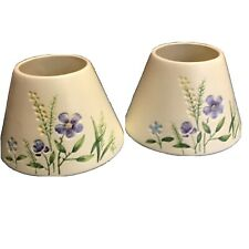 Pair Of Yankee Candle Shades Blue Iris Pattern