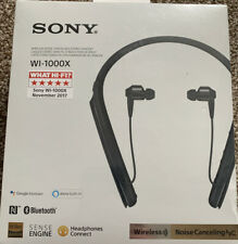 BRAND NEW Sony WI-1000X Wireless Noise Cancelling Stereo Headphones - Black