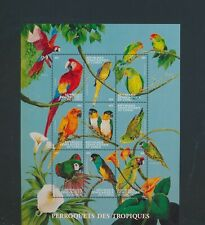 XC95031 Congo animals fauna flora birds XXL sheet MNH