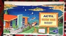 Vintage Actil Sheet Set Australia Holiday House Rare MIB Luxury Pure Cotton 60s