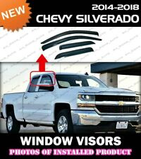 WINDOW VISORS for 14-18 Chevrolet Silverado Double Cab / DEFLECTOR RAIN GUARD