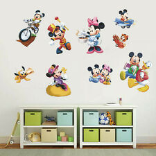 Lovely Mickey Mouse Minnie Wall Decals Vinyl Sticker Kids Room Decor Mural DIY
