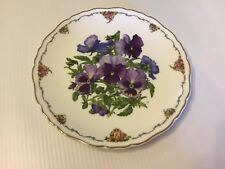 """More details for 8"""" royal albert  pansies queen mother's favourite flowers plate 1990"""