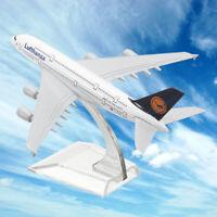 1:400 Alloy Plane Model Aircraft A380 Lufthansa Aeroplane Scale Desk Toy 16cm