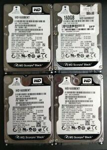 Lot de 4 disques dur WD SCORPIO BLACK 2.5 pouces 160go SATA 7200RPM - WD1600BEKT