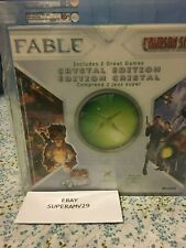 Xbox Crystal  EDITION W/FABLE AND CRIMSON SKIES VGA 85+ ARCHIVAL CASE