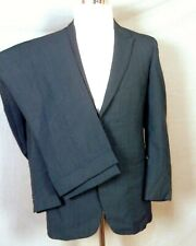 vtg 60s Rockabilly Shiny Blue Sharkskin Wool 2 Pc Suit Dual Vent Flat Front 38 S