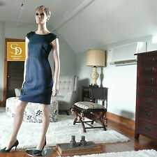 J Crew Collection Beaded Linen Dress in Navy NWT $395 Sz 00   Style a4352