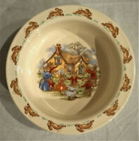 "Vintage Royal Doulton - Bunnykins Family Playing Outside - Childs 6"" Cereal Bowl"