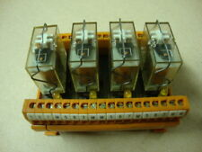 Multivac Din Rail Mounted Kaco Relay Base with 4 Relays -  # 11.586.9178.13
