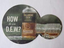 Beer & Liquor Shot Bar Coaster ~ TULLAMORE DEW Legendary Irish Whiskey ~ IRELAND